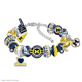 Fashionable Fan Wolverines Bracelet