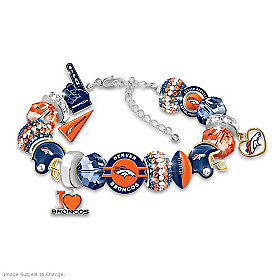 Fashionable Fan Broncos Bracelet