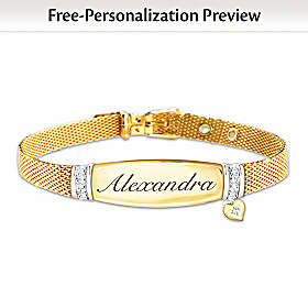 Love For My Daughter Personalized Diamond Bracelet