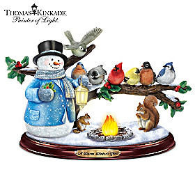 Thomas Kinkade A Warm Winter's Glow Sculpture