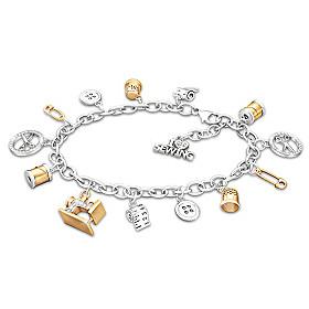 Sew Happy Charm Bracelet