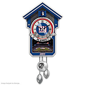 New York Giants Cuckoo Clock
