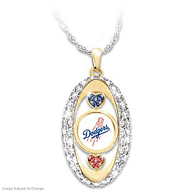 For The Love Of The Game Dodgers Pendant Necklace