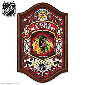 Chicago Blackhawks® Illuminated Stained-Glass Wall Decor