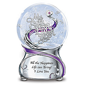 My Sister, I Wish You Glitter Globe