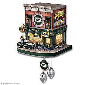 Green Bay Packers Fan Celebration Cuckoo Clock