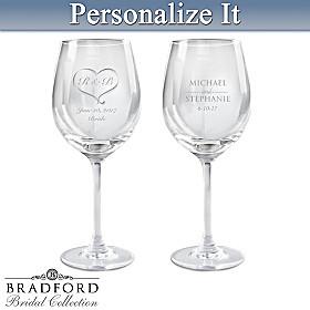 Personalized Wine Glass Set