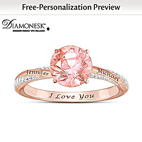 Blush Of Romance Personalized Ring
