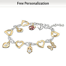 I Wish You Personalized Charm Bracelet