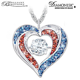 America The Beautiful Pendant Necklace