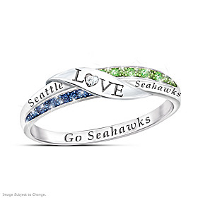 Go Seahawks Diamond Ring