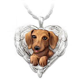 Dachshunds Are Angels Pendant Necklace