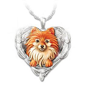 Pomeranians Are Angels Pendant Necklace
