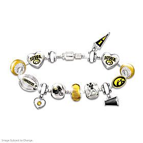 Go Hawkeyes! #1 Fan Charm Bracelet