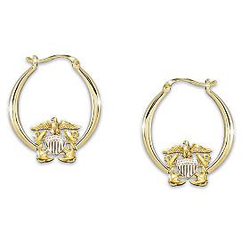 Navy Pride Earrings