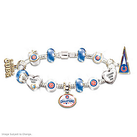 Chicago Cubs 2016 World Series Champions Charm Bracelet