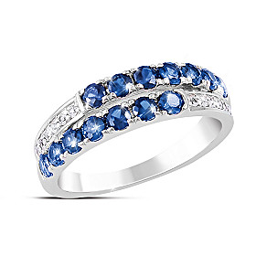 Symphony Sapphire And Diamond Ring