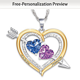 Love Struck Personalized Pendant Necklace