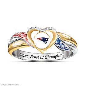 New England Patriots Super Bowl LI Champions Pride Ring