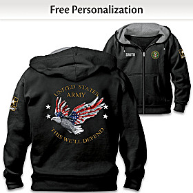Army Pride Personalized Men's Hoodie