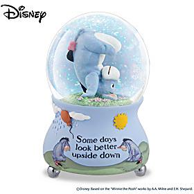 Disney Some Days Look Better Upside Down Glitter Globe