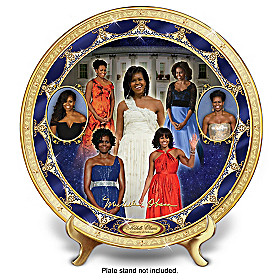 Michelle Obama: First Lady Of Fashion Collector Plate