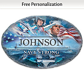 Navy Strong Personalized Outdoor Welcome Sign