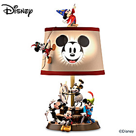 Disney Mickey Mouse Through The Years Lamp