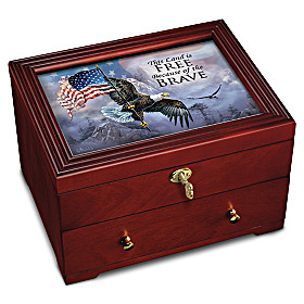 The Free And The Brave Keepsake Box