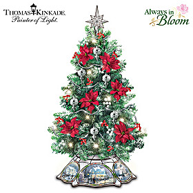 Thomas Kinkade The Warm Glow Of Christmas Tabletop Tree