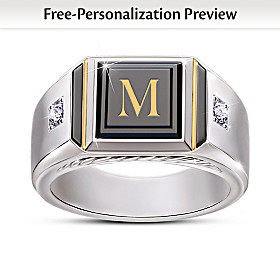 Man Of Distinction Personalized Diamond Ring