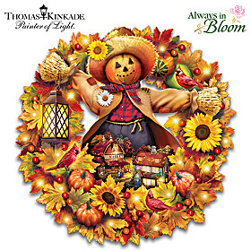 Thomas Kinkade Happy Harvest Days Wreath