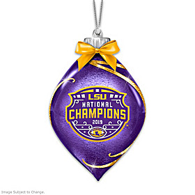 LSU Tigers 2019 Football National Champions Ornament