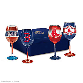 Red Sox Pride Wine Glass Set
