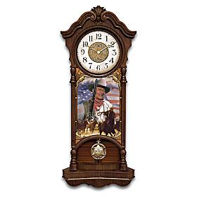 John Wayne, True Patriot Wall Clock