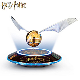 HARRY POTTER Levitating GOLDEN SNITCH Sculpture