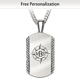Discover Your Path, My Son Personalized Pendant Necklace
