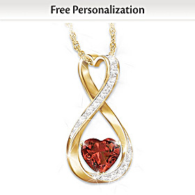 Forever And Ever Personalized Diamond Pendant Necklace