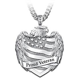 Proud Veteran Pendant Necklace