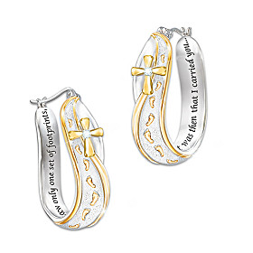 Footprints In The Sand Diamond Earrings