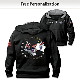 Coast Guard Pride Personalized Men's Hoodie