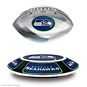 Seattle Seahawks Levitating Football Sculpture