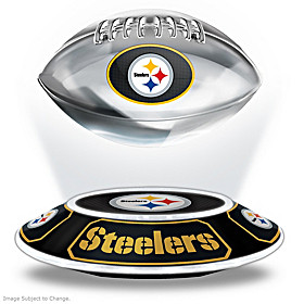 Pittsburgh Steelers Levitating Football Sculpture