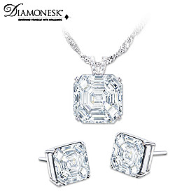 Hollywood Royalty Pendant Necklace And Earrings Set