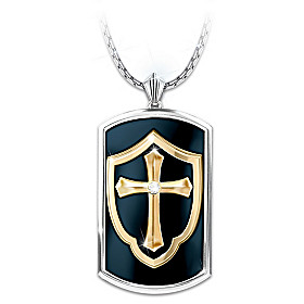 Shield Of Faith Pendant Necklace