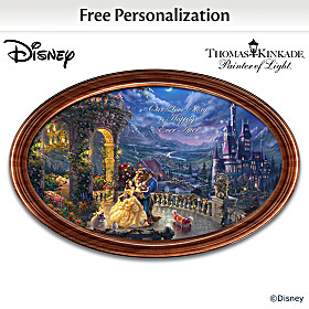 Disney Beauty And The Beast Personalized Collector Plate