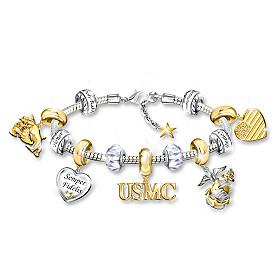 Pride Of USMC Charm Bracelet