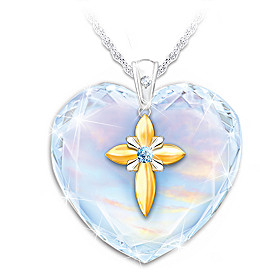 Bless My Granddaughter Pendant Necklace