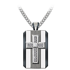 God Is My Strength Diamond Pendant Necklace