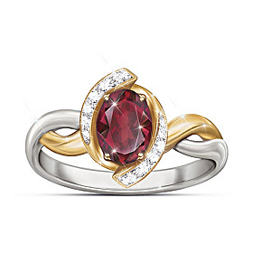Magnificent Merlot Ring